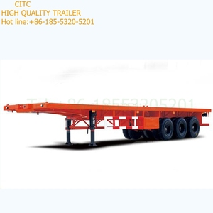 3 axle container semi trailer and trailer chassis sale