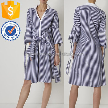 73071dccf97 2018 newest design women blue   white stripe shirt dress for grils and  ladies