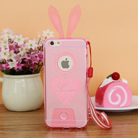 TPU Lover Couple Mobile Phone shell for iPhone6/6Plus/iPhon5/5s with Colorful Cute Bunny Ear