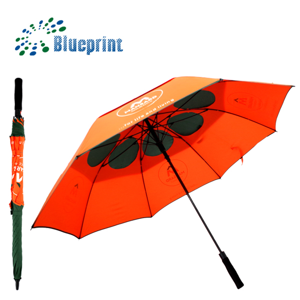 High quality EVA windproof double canopy umbrella with hole inside
