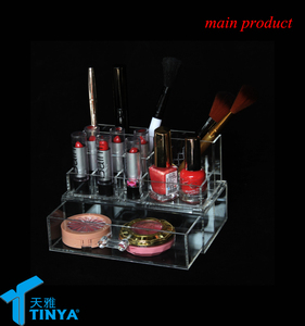 home & garden cheap vanity small makeup compartments lipstick holder makeup brush holder ideas with plastic drawer