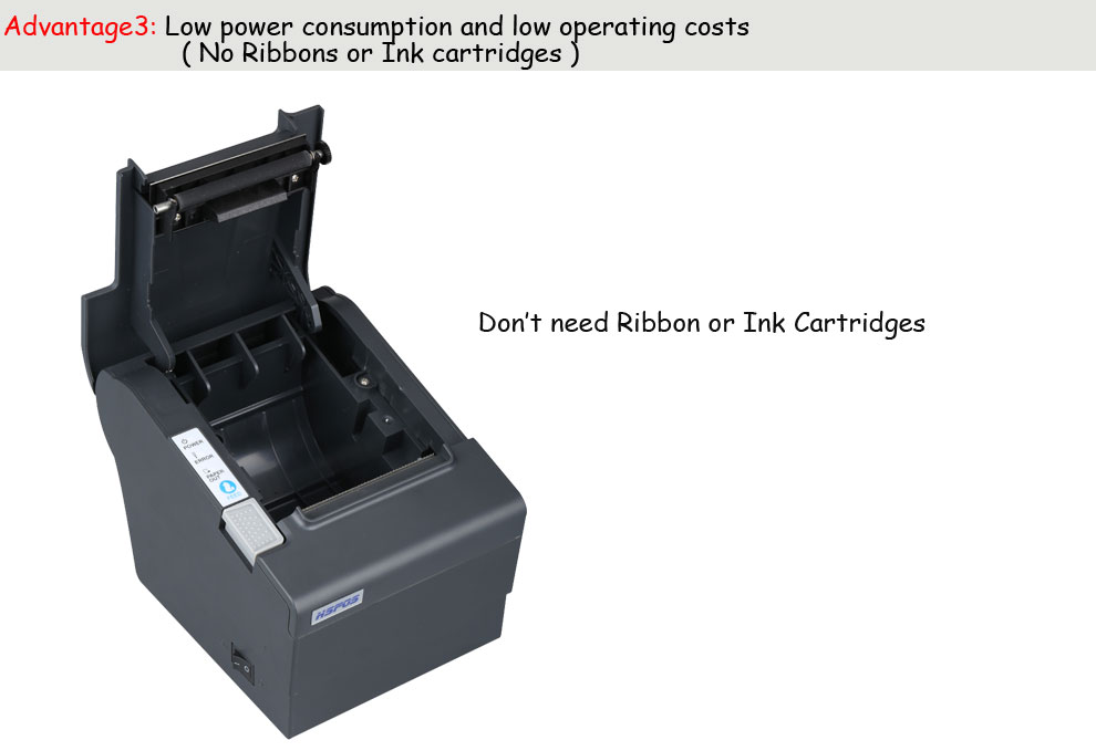 Thermal 80mm x printer pos printer cheap price usb lan port with auto cutter