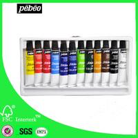 artist quality Pebeo 12x12ml oil colours paint