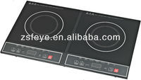 2016 fast cooking 3500W eco friendly 3 hours Desk top double induct cooker induction kitchen plate