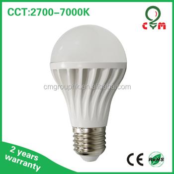 2700k 4000k 6000k 7w E26 E27 Led Screw Type Led Bulb