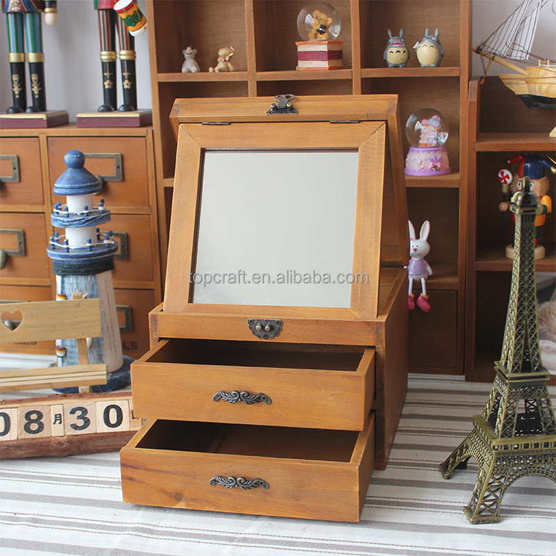 2015 Handmade Wood Jewelry Boxes For Women Vintage Wooden Chest