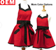 Fashionable Good quality red cotton Retro Apron for ladies Wedding Day Bridal Apron Protect the Dress