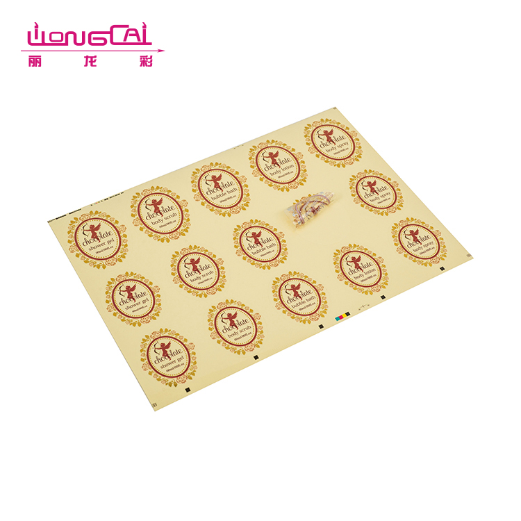 Personalized private label transparent stickers for company logo