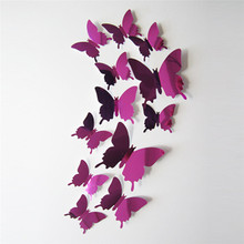 Wall Stickers Decal Butterflies 3D Mirror Wall Art Home Decors Free Shipping adesivo de parede