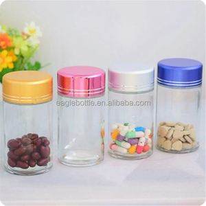 high end glass jar 100ml for Functional food supplement