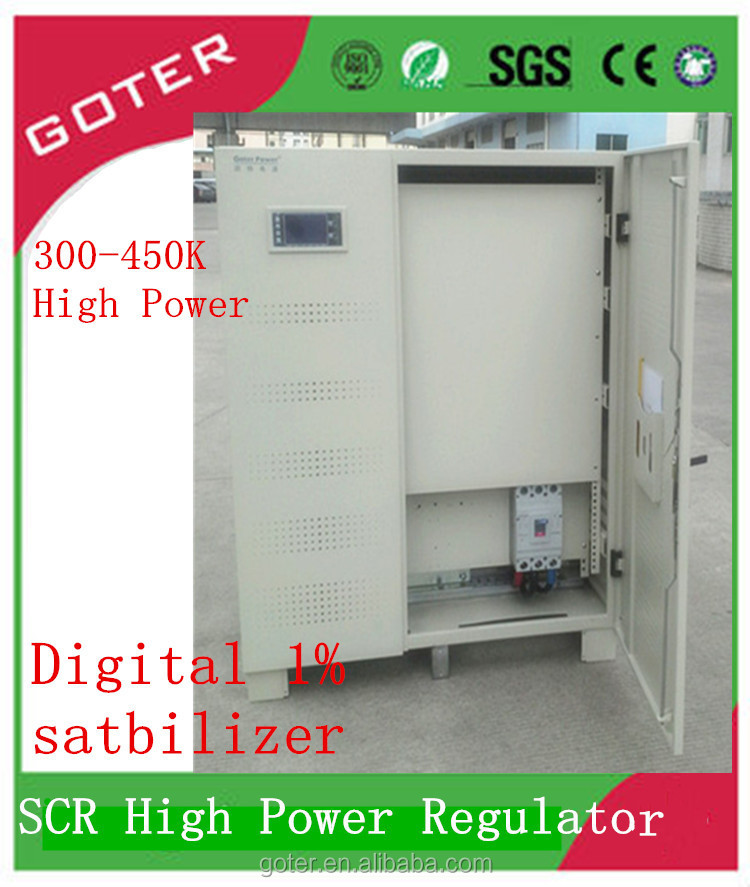 Digital Computerized SCR No- Contact voltage regulator 1200KVA / AC power supply factory