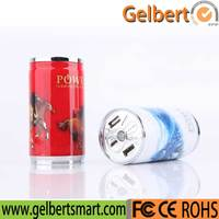 Wholesale Market 10400mah Colar Can Mobile USB Powerbank With Rohs