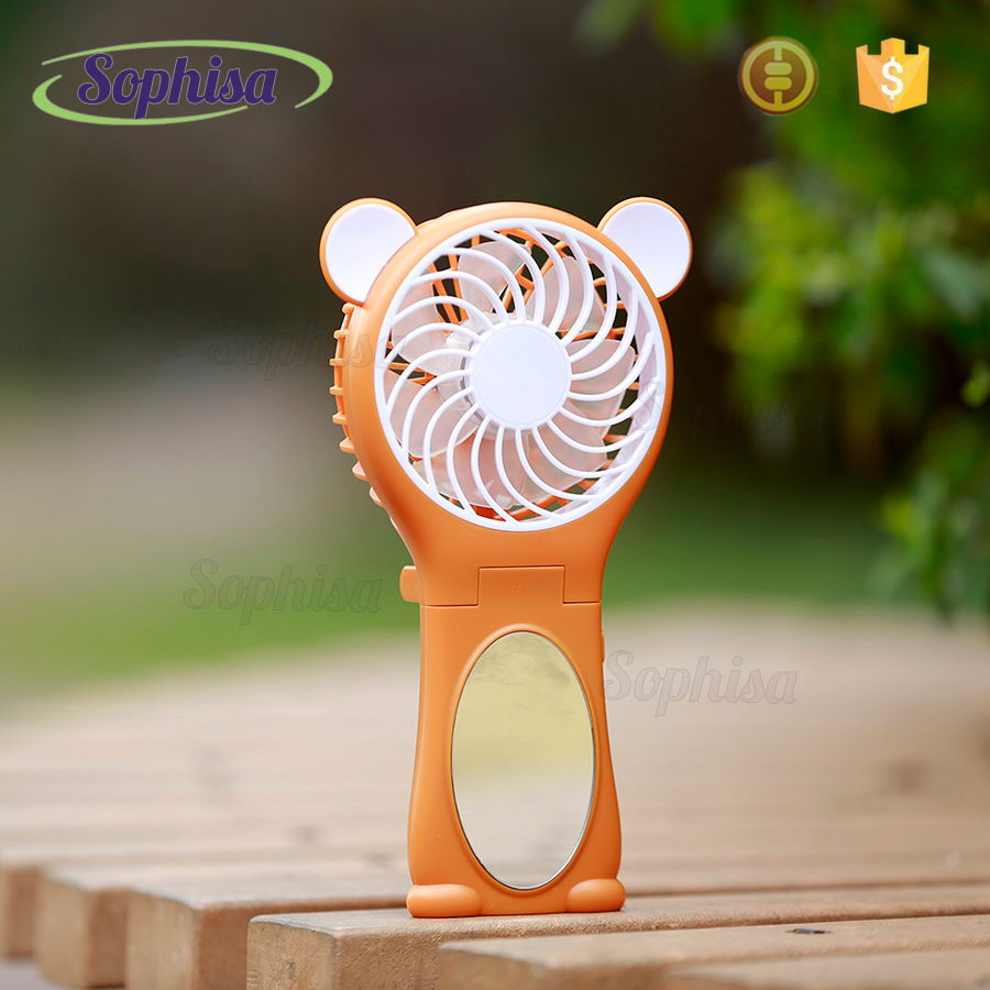 Mini Battery Fan Ventilation Exhaust Phone Fan Rechargeable