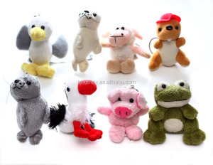 2015 Best selling factory direct wholesale soft cute small animals stuffed keychain plush toy,custom plush toy