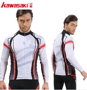 Custom design white ground man long sleeve cycling tops