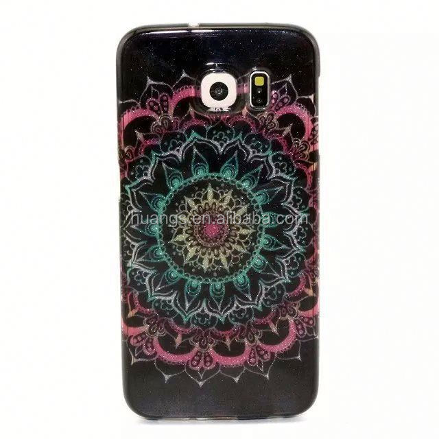 Trending Hot Products Gel Silicon Phone Case for Samsung Galaxy S6 Edge Geometic Flower Design