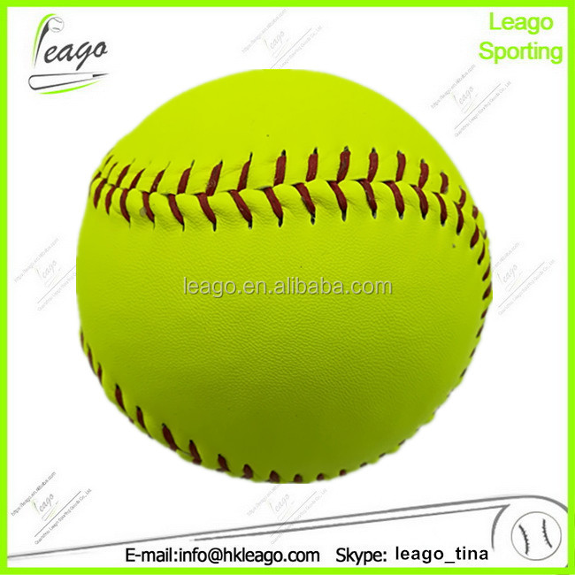 12 in game slowpitch softbal, PU cover kurk kern vullen