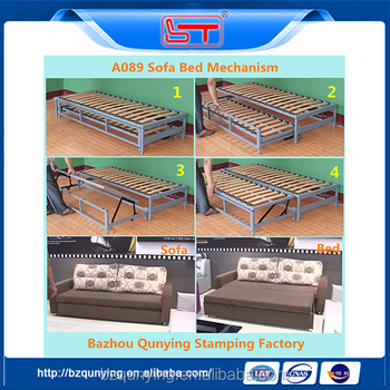 extra strong metal tube frame with wood slats for bed
