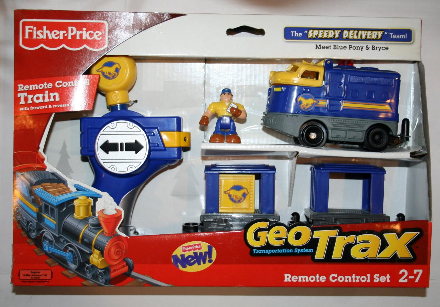 Fisher Price Geotrax Remote Control Set The Speedy Delivery Team Meet Blue Po