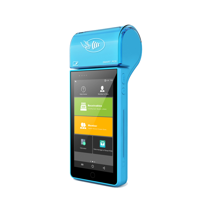 RFID Smart Card Reader built in thermal printer 4G Handheld Android PDA android handheld barcode scanner фото