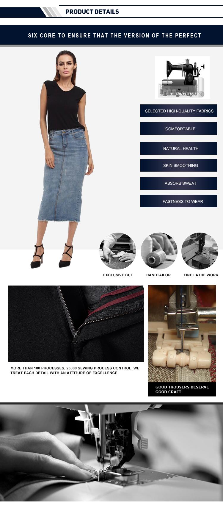Ws-中国メーカー最新デザインダークブルーセクシーなハイウエストデニムジーンズミニスカート熱い女性スカート