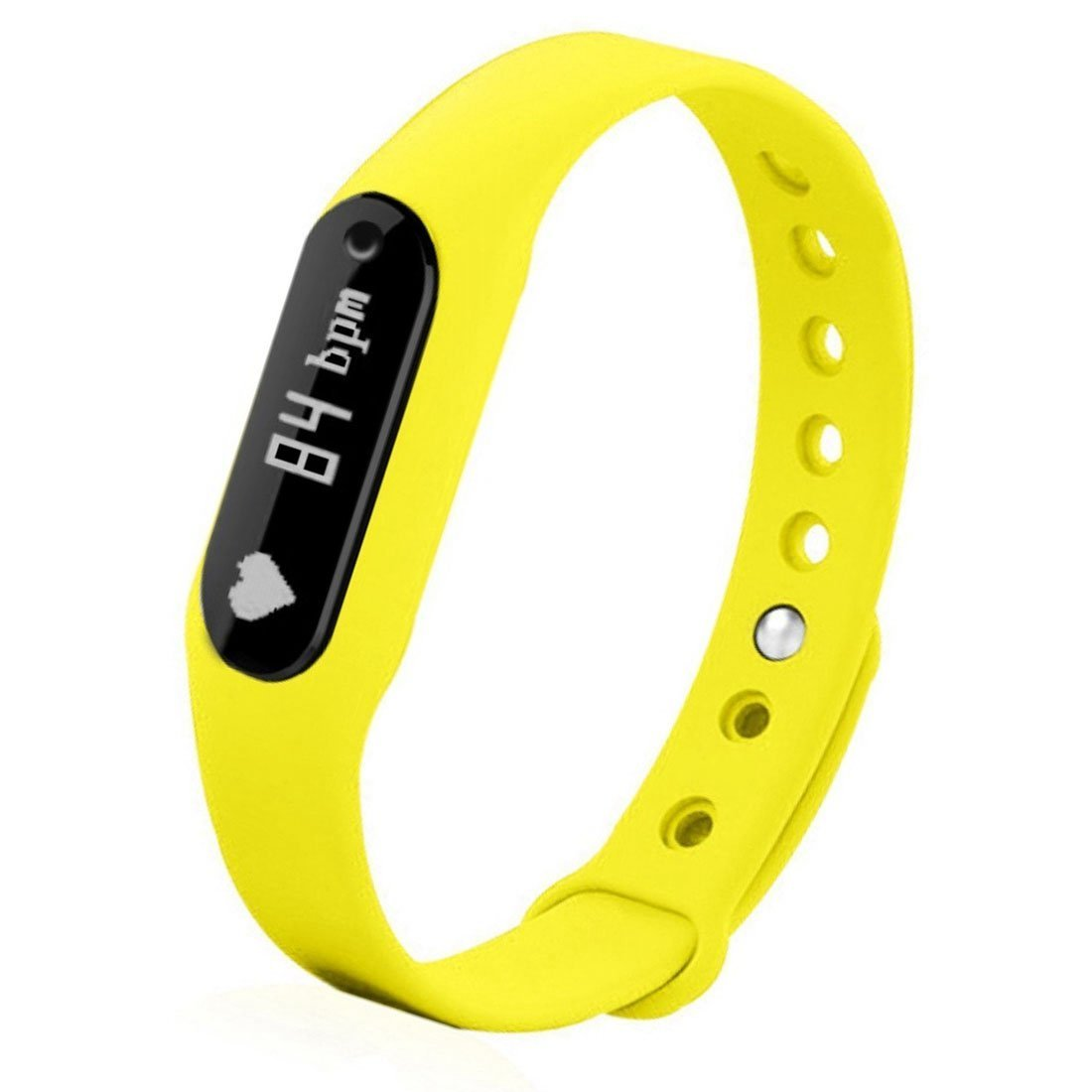 Bestseller2888 Smart Band Heart Rate Monitor/ Smartband/ Smart Wristband/ Smart Bracelet Fitness Wearable Activity Tracker/ Waterproof Bluetooth Health Fitness Band-Yellow