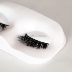 Private Label Synthetic Fur Eyelashes Extension 3d Synthetic Strip Lash
