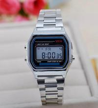 2015 Hot Sale Led cassio Casual Women Dress Watch Couple Watches Men Full  Stainless Digital sports 2b4288239097