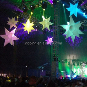Stage/ event decoration led inflatable star, lighting inflatable balloon for sale C2026