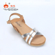 Latest Design Open Toe Ladies Wedge High Heel Sandals