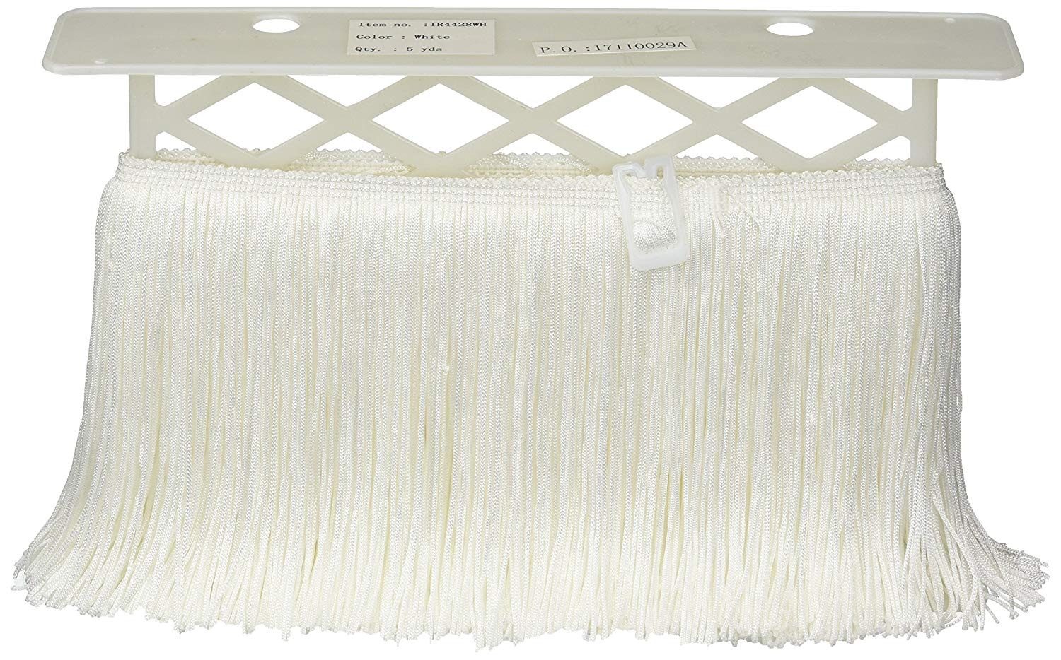 - OW Sold by The Yard CFS06 Color: Ivory DecoPro 6 Inch Chainette Sequin Fringe Trim Off White