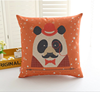 2015 China factory direct supply wholesale alibaba selling well fashion super soft 100% cotton panda decorative cushion cover