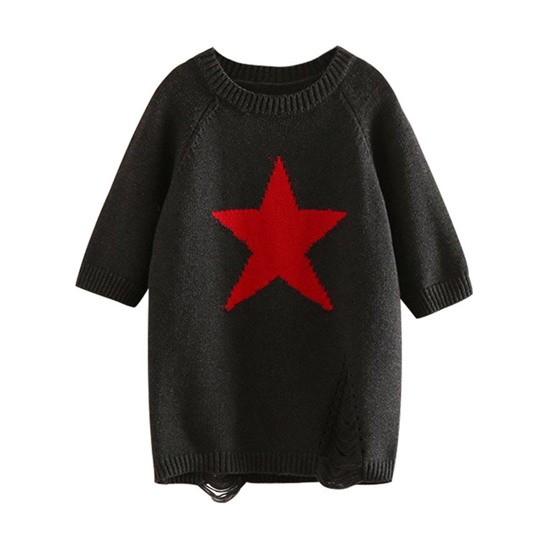 c55ec11e8 Get Quotations · Mud Kingdom Girls Long Sleeve Knitted Sweater dress Casual  Long Knit Shirt