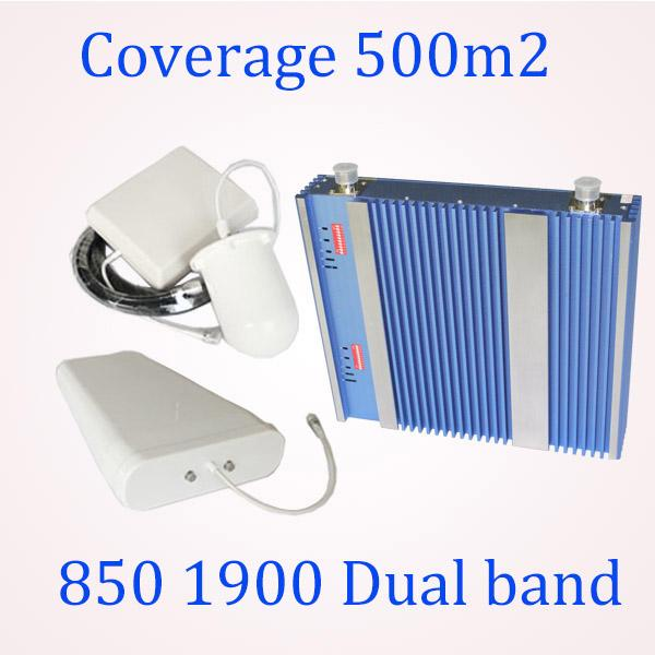 Wireless signal booster,Smart repeater antenna cdma 850 1900 mhz repeater, 850/1900 dual band cell phone booster