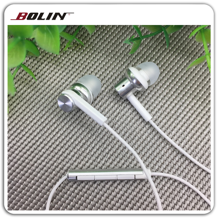 Aluminum Metal Earbuds with Mic and Volume Control, Earpiece with precise Bass High Fidelity Sound