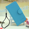 Wholesale Elegant Lychee Grain Wallet Pouch Flip Leather Cover for BlackBerry 9720