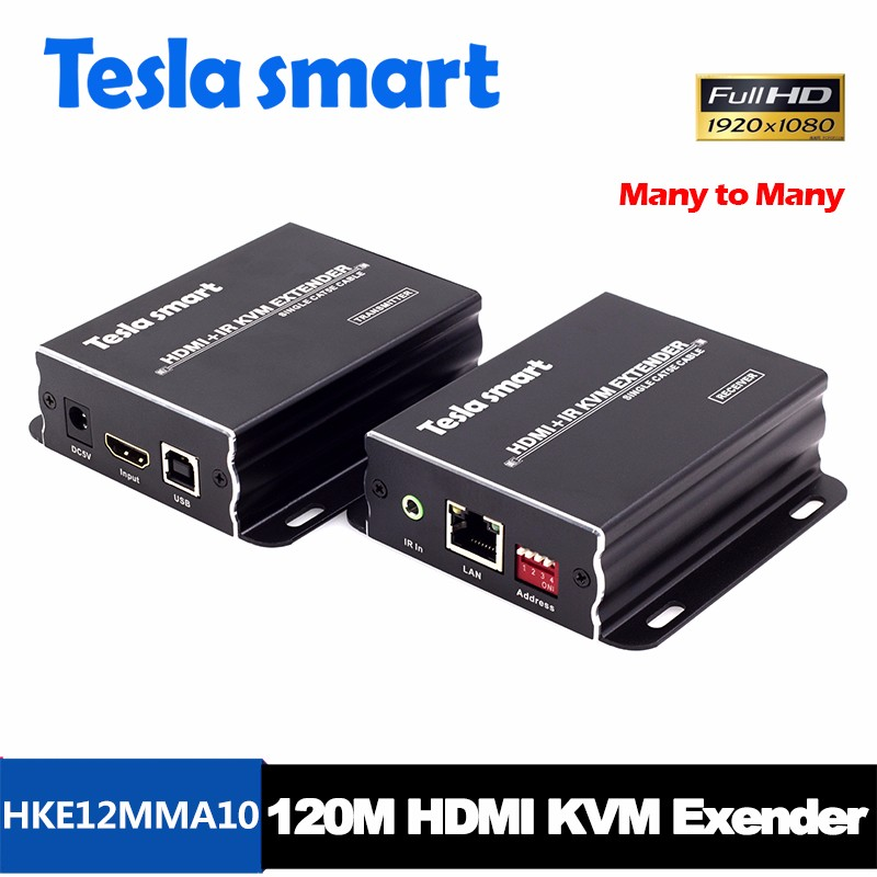 120m Many To Many HDMI Extender Over CAT6 CAT5e RX TX Extender KVM