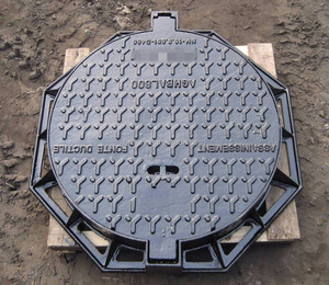 Road Facilities Ductile Iron Square Hinged B125 Manhole Covers for Sale in Foundry