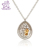 Deluxe Pear-shaped Pearl Pendant Necklace with Crystals