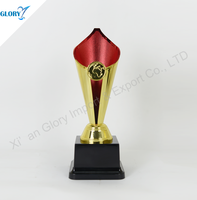 wholesale cheap hot sell plastic red trophy cup for show for