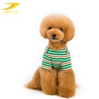 Striped sailor elastic fibers three color cotton designer dog clothes