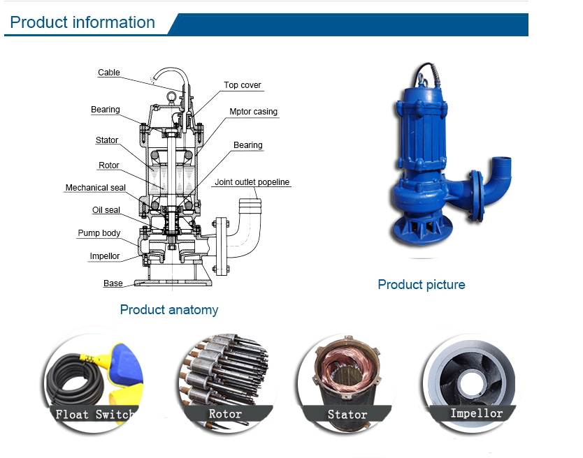 Marqui Matra Mauritiu Mechanical Seal Submersible Sewage Membran Marker Water Pump
