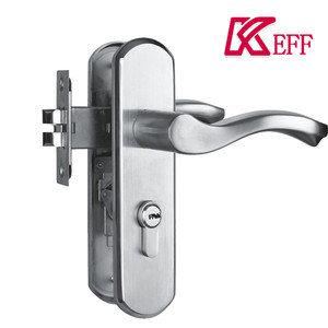 304 Stainless Steel Apartment House Safety Security Anti Theft Sliding Handle Brass Cylinder Dead Bolt Door Lock