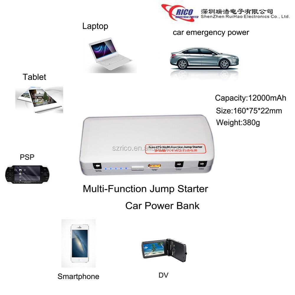 Portable Power Bank and Vehicle Jump Starter for Car,Laptop,Tablet