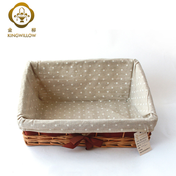 Large Bulk Wicker Basket for Storage with Lining