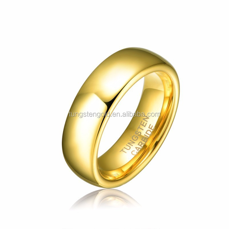 6mm tungsten carbide gold ring men women weddingengagement bands rings alliance jewelry tu025r - Wedding Rings For Men And Women