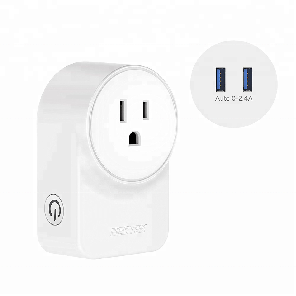 BESTEK Smart <strong>Plug</strong> Works with Alexa,Google Assistant and IFTTT, No Hub Required [ETL Listed] - 10A 1250W Max Wall <strong>Plug</strong> with 2 USB