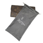 Leather wallet high end suede dust proof bag pouch with gold stamping