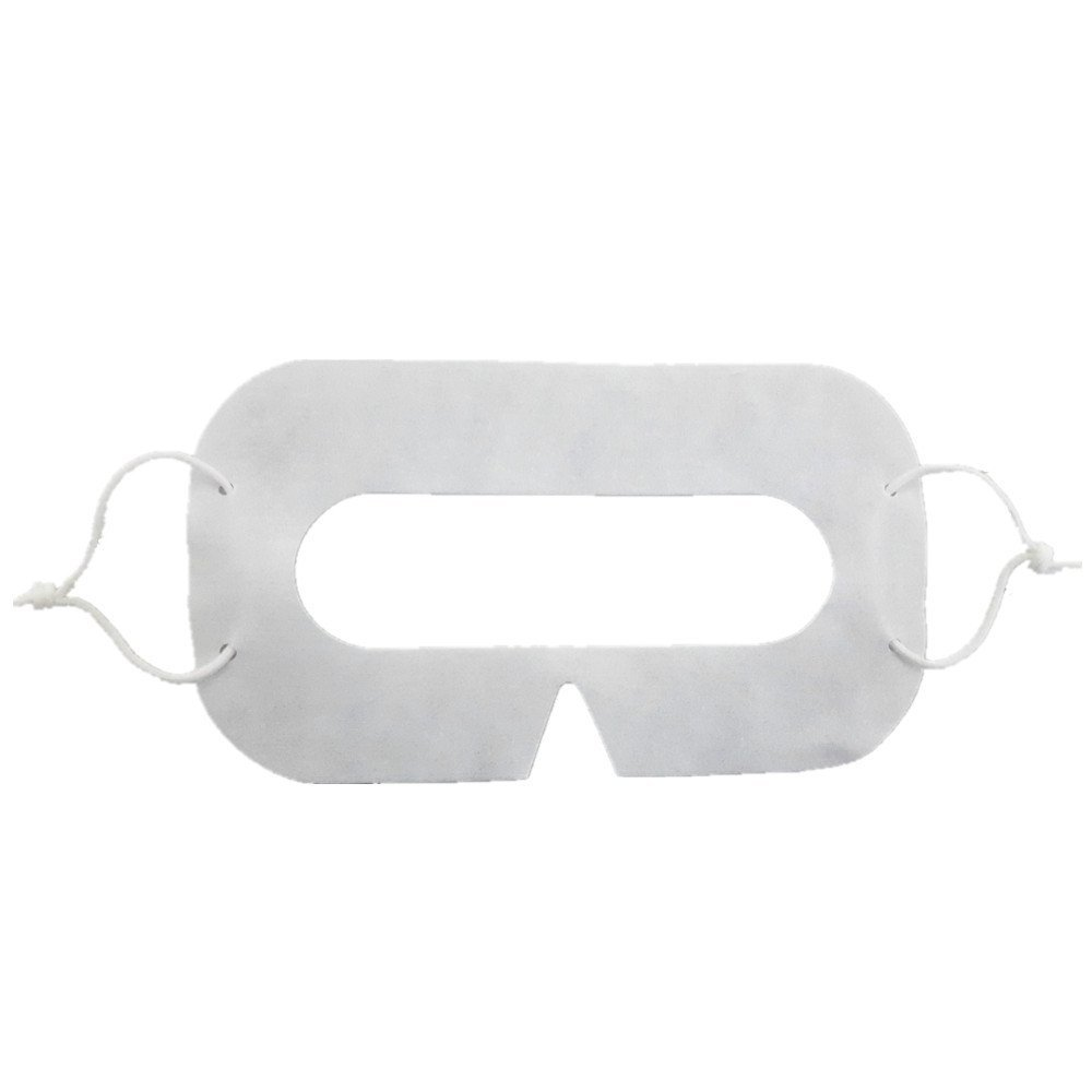 NTT 100 pcs VR Headset NINJA MASK Disposable Hygiene Sanitary White Virtual Reality Facial Viewer Mask for Gear VR Oculus Rift HTC Vive PSVR