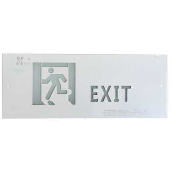 LST green running man fire emergency led exit sign board